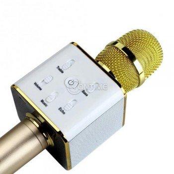 Микрофон за караоке с блутут свързване и вградена колонка