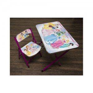 Комплект маса и стол за деца с дизайн Принцеси