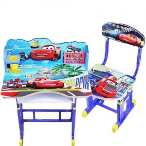 Детско бюро със стол с мотиви от филмчето Колите