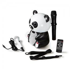 Блутут караоке колонка Панда с USB / SD / и микрофон