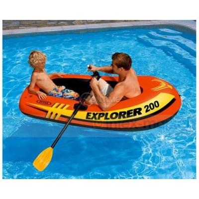 Надуваема лодка Intex Explorer 200 с гребла двуместна