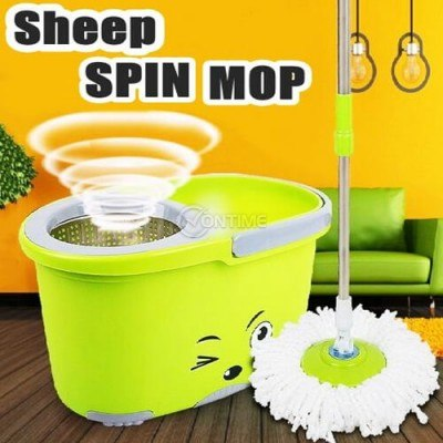 Моп с кофа и система за лесно изцеждане на водата Sheep Spin Mop