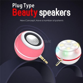 Мини колонка за телефон Beauty speakers светеща