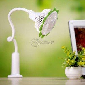 USB вентилатор с форма на цвете