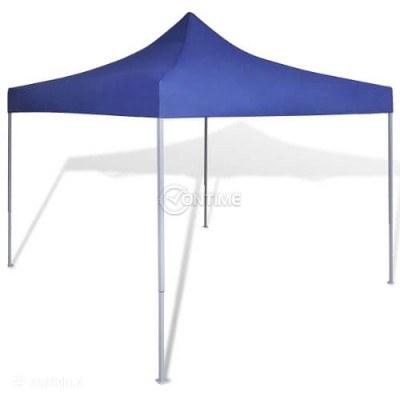 Малка шатра с размери 2 х 2 метра в бял син зелен или червен цвят