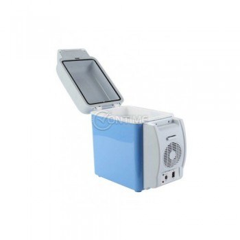 Хладилна чанта за кола 12V с опция за затопляне и поставки за чаши