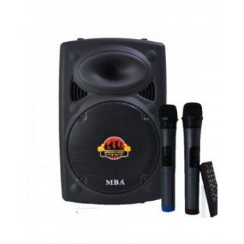 Тонколона за караоке MBA F15, с микрофон блутут 2бр, свързване USB SD карта