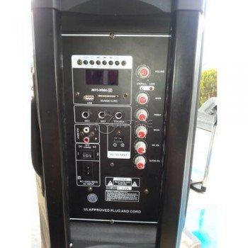 Тонколона за караоке с микрофон блутут свързване USB SD карта