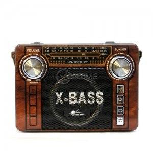 Преносимо радио с фенер и презареждаща батерия USB слот SD карта AUX