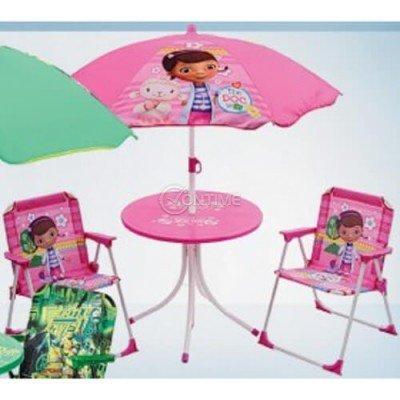 Детска маса с две столчета и чадър The Doc