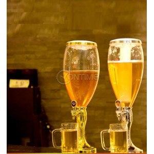 Диспенсър за бира със светещ и охлаждащ механизъм