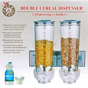 Двоен диспенсър с дозатор за зърнени храни