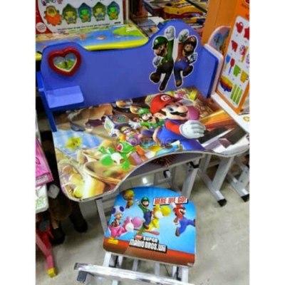 Детско бюро със стол и дизайн Супер Марио