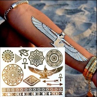 Татуировки бижута в златист цвят