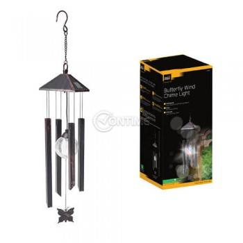 Градинска лампа със солар и тръбни орнаменти