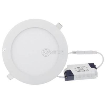 LED панел кръг 12W топло бяла светлина с LED драйвер