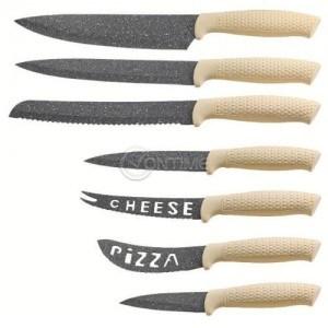 Сет ножове с мраморно покритие Royalty Line 7 части