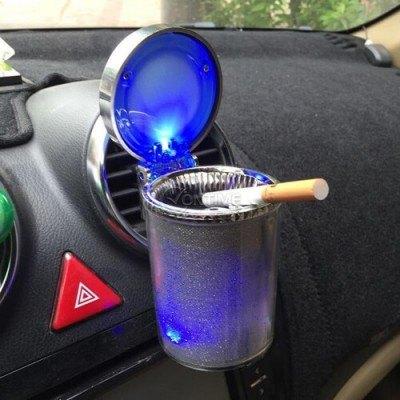 Пепелник за кола с LED диод