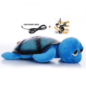 Детска лампа костенурка проектира звезди и изпълнява мелодии