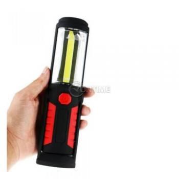 Портативна магнитна работна лампа с фенер и акумулаторна батерия