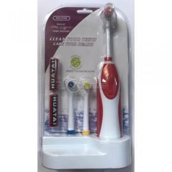 Електрическа четка за зъби с 3 накрайника и 2 батерии