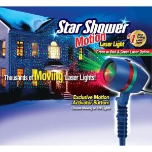 Лазер за коледна украса Star Shower Motion зелен и червен цвят