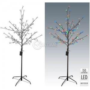 Коледно дърво с разноцветни LED светлини