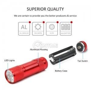 Мини LED фенерче с алуминиев корпус