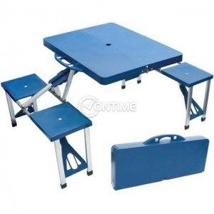 Маса за къмпинг с 4 стола