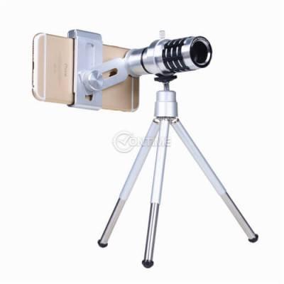 Телескоп със статив за телефон 12 х zoom