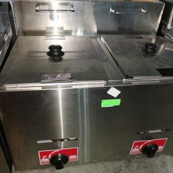 Фритюрник на газ професионален 2 х 6 литра 10.5KW чугунени горелки