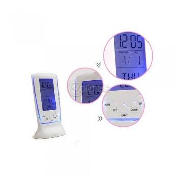 Настолен часовник с термометър