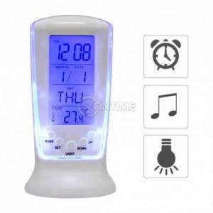 Настолен часовник LED с термометър таймер аларма