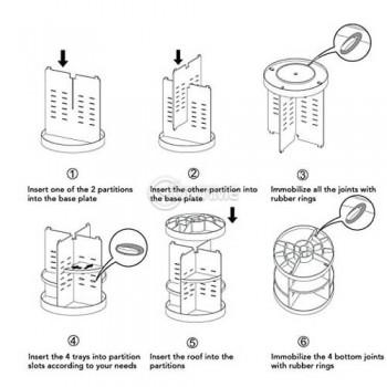Органайзер за гримове въртящ 360 градуса