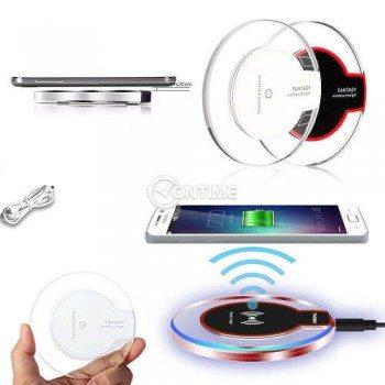 Безжично зарядно за телефон QI съвместимост