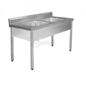 Мивка за кухня двойна 120 х 60 см