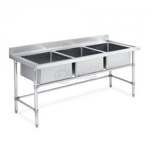 Професионална кухненска мивка 180 х 60 х 80 три вани