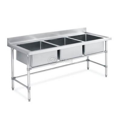 Професионална кухненска мивка с три вани
