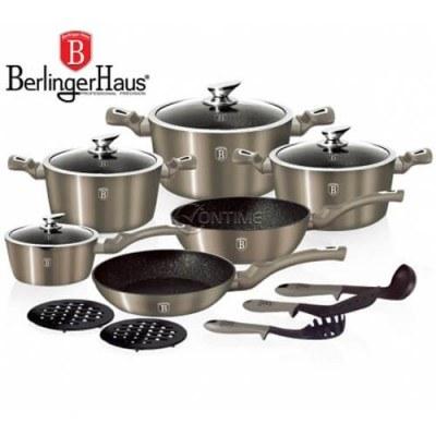 Комплект съдове и прибори за готвене Berlinger Haus BH1223N