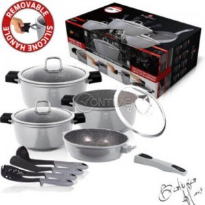Комплект тенджери и прибори за готвене BERLINGER HAUS BH1121