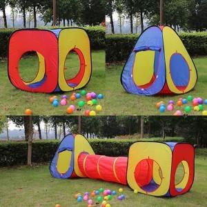 Детска палатка за игра с тунелче, 330 х 80 х 95см
