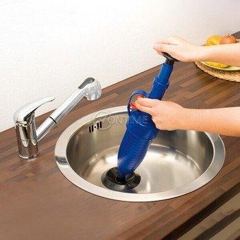 Уред за отпушване на тоалетни сифони и канали Drain Blaster