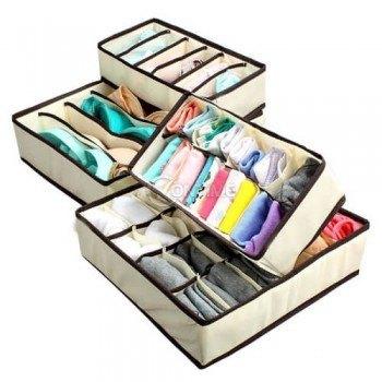 Комплект органайзери за дрехи бельо и чорапи 4 броя