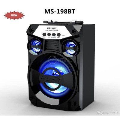 Bluetooth високоговорител FM радио TF карта LED ефекти MS198-BT
