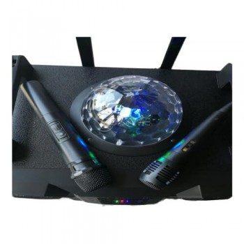 Тонколона за караоке Bluetooth MP3 player 2 микрофона DMS K8-12T5
