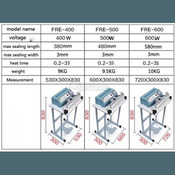 Лепачка крачна за пликове и найлони 50см. 500W FRE-500