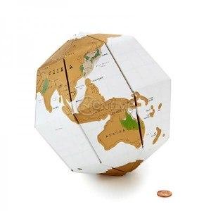 Скреч карта 3D глобус тип пъзел