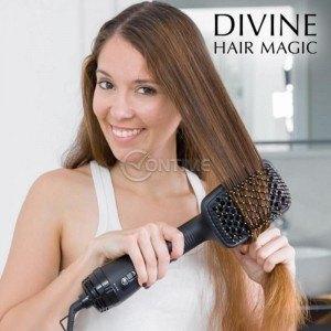 Електрическа четка за изправяне на косата и сешоар 1000W InnovaGoods