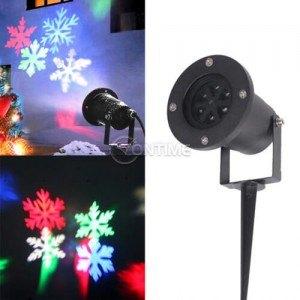 Коледен led лазер прожектиращ снежинки