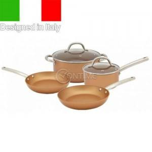 Комплект медни съдове за готвене Luigi Ferrero